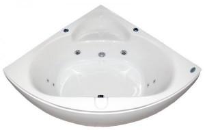 Appollo Ванна угловая 1400*1400*620 мм с гидромассажем и пневмокнопкой со смесителем AT-970-C