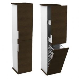 Kolo TWINS шкафчик боковой, высокий 32 x 140 x 32 см, венге/белый 88322000