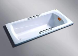 Ванна акриловая прямоугольная Appollo TS 170х75х55 TS-1702Q с ручками
