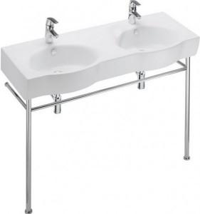 Раковина для ванной подвесная двойная Jacob Delafon коллекция Ove белая E1704-00