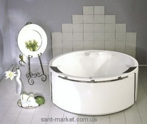 Ванна акриловая круглая PoolSpa коллекция Atlantyda 160х160х69 PWR6N10ZS000000 + рама