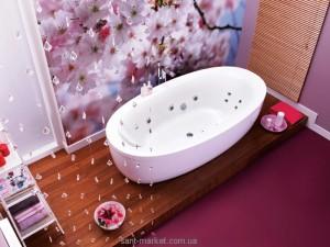 Ванна акриловая овальная PoolSpa коллекция Aura 190х100х65 PWR7810ZS000000 + рама