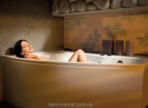 Ванна акриловая угловая PoolSpa коллекция Nicole 160х80х60 R PWAOF10ZN000000 + ножки