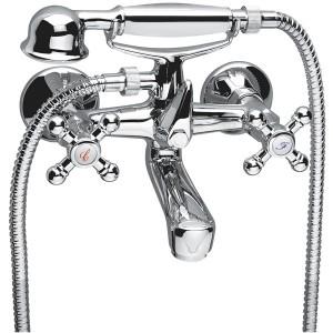 Смеситель двухвентильный для ванны с душем Ferro коллекция Retro хром  XR 11