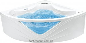 Ванна с гидро и аэромассажем PoolSpa Orchidea 150х150х67 PHS4510TSPC0000 Titanium Sport