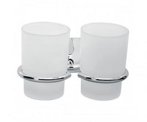 Ferro Cascata держатель стакана двойн. хром/сатин E04