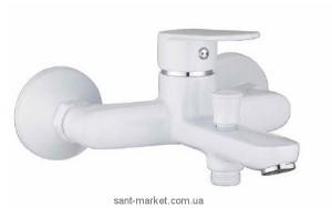 Смеситель однорычажный для ванны с коротким изливом Imprese коллекция Laska белый 10040W
