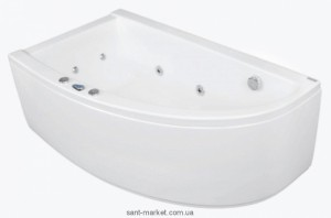 Ванна акриловая угловая PoolSpa коллекция Laura 150х90х63 L PWANW..ZS000000 + рама