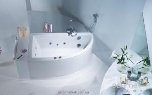 Ванна акриловая угловая PoolSpa коллекция Laura 150х90х63 L PWANW..ZN000000 + ножки