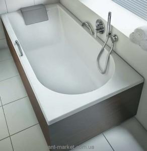 Ванна акриловая прямоугольная Kolo Mirra 160х75х42 XWP3360001 + подголовник