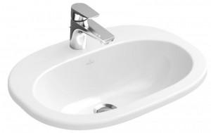 Раковина для ванной встраиваемая Villeroy&Boch коллекция O.Novo белая 41615601