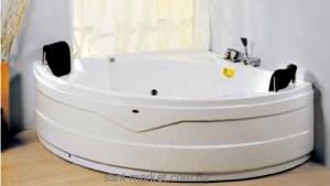 Ванна гидромассажная акриловая угловая Wisemaker 166х166х71 DG-407 + смеситель