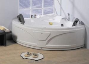 Ванна гидромассажная акриловая угловая Wisemaker 141х141х72 DG-406 + смеситель