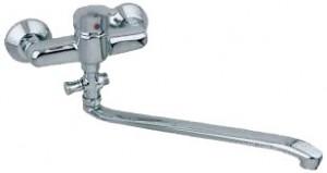 Смеситель однорычажный с длинным изливом KFA коллекция Ferryt Bath Mixer хром 548-755-00