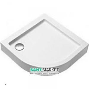 Душевой поддон акриловый четверть круга Kolo SIMPLO 80х80х17 белый XBN0680000