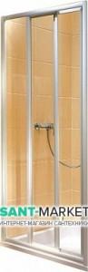 Душевая дверь в нишу Kolo ATOL PLUS стеклянная раздвижная 80х185 EDRS80222000