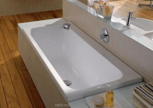 Ванна акриловая прямоугольная Keramag коллекция Flow 180x80х46 651905
