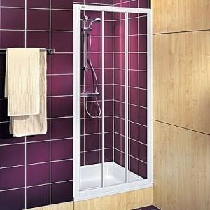 Душевая дверь в нишу Kolo AKORD стеклянная раздвижная 90х185 RDRS90202000