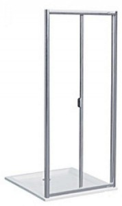 Душевая дверь в нишу Kolo AKORD bifold стеклянная распашная складывающаяся 80х185 RDRB80222005