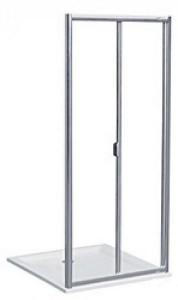 Душевая дверь в нишу Kolo AKORD bifold стеклянная распашная складывающаяся 90х185 RDRB90222005