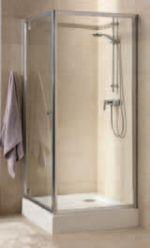 Kolo FIRST боковая стенка 80 см, закаленное стекло сатин, серебряный блеск ZSKX80214003
