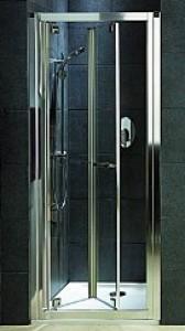 Душевая дверь в нишу Kolo GEO 6 Bifold стеклянная распашная складывающаяся 80х190 GDRB80222003