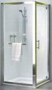 Kolo GEO 6 боковая стенка 90 см, закаленное стекло, серебряный блеск, Reflex GSKS90R22003