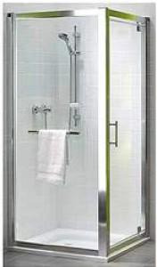 Kolo GEO 6 боковая стенка 80 см, закаленное стекло PRISMATIC, серебряный блеск GSKS80205003