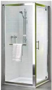 Kolo GEO 6 боковая стенка 90 см, закаленное стекло PRISMATIC, серебряный блеск GSKS90205003