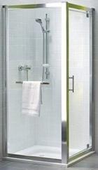 Kolo GEO 6 боковая стенка 80 см, закаленное стекло, серебряный блеск, Reflex GSKS80R22003