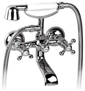 Смеситель однорычажный для ванны с душем KFA коллекция Retro хром 374-144-00