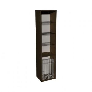 Kolo DOMINO корпус к шкафчику бок-му, высокому, с кор. для белья 37x160x34 см, венге 88345000