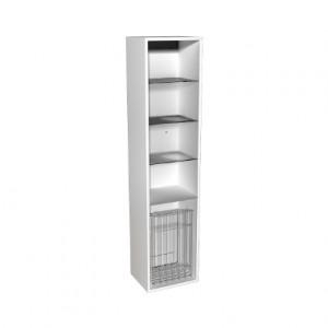 Kolo DOMINO корпус к шкафчику бок-му, с кор. для белья 37x160x34 см, бел. гл. 88343000