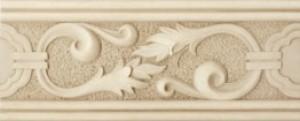 Dvarcioniu Travertino 101 BEIGE фриз Плитка настенная 146035
