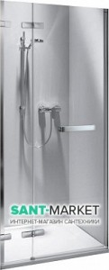 Душевая дверь в нишу Kolo NEXT стеклянная распашная 120х195 HDRF12222003L