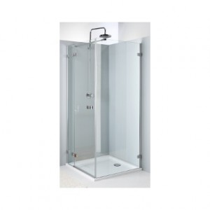 Душевая дверь в угол Kolo NEXT стеклянная распашная с релингом 100х195 HDSF10222R03L
