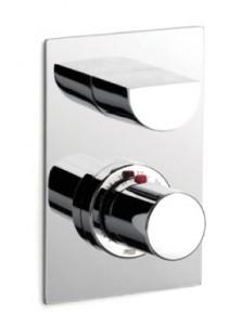 Смеситель с термостатом для ванны скрытого монтажа Roca коллекция Touch-T хром 5A2847C00