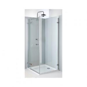 Душевая дверь в угол Kolo NEXT стеклянная распашная с релингом 80х195 HDSF80222R03L