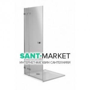Душевая дверь в угол Kolo NEXT стеклянная распашная с релингом 90х195 HDSF90222R03R