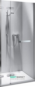 Душевая дверь в нишу Kolo NEXT стеклянная распашная с релингом 100х195 HDRF10222R03R