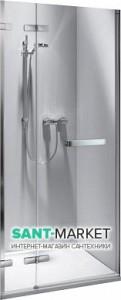 Душевая дверь в нишу Kolo NEXT стеклянная распашная с релингом 120х195 HDRF12222R03R