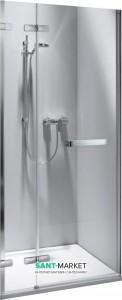 Душевая дверь в нишу Kolo NEXT стеклянная распашная с релингом 90х195 HDRF90222R03R