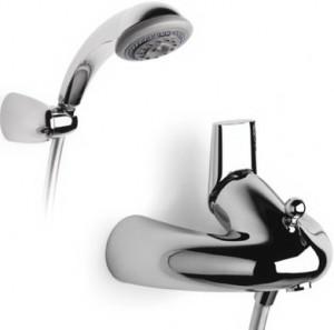 Смеситель однорычажный для ванны с душем Roca коллекция Silver Crown хром 5A0142C00