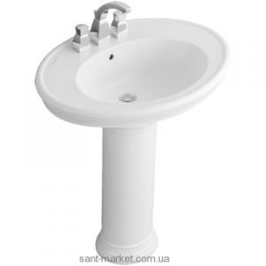 Раковина для ванной на пьедестал Villeroy & Boch коллекция Amadea белая 718575R2