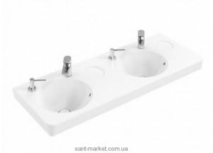 Раковина для ванной на тумбу двойная Villeroy & Boch коллекция Joyce белая 4109D301