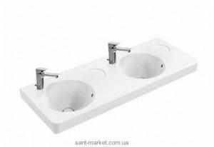 Раковина для ванной на тумбу двойная Villeroy & Boch коллекция Joyce белая 4109D001