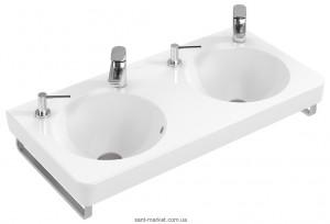 Раковина для ванной подвесная двойная Villeroy & Boch коллекция Joyce белая 4108A001