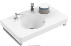 Раковина для ванной подвесная умывальник-столешница Villeroy & Boch коллекция Joyce белая 41078101