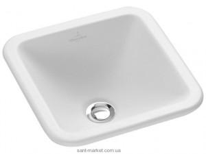 Раковина для ванной встраиваемая Villeroy & Boch коллекция Loop & Friends белая 450х450 61562001