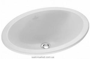 Раковина для ванной встраиваемая Villeroy & Boch коллекция Loop & Friends белая 61552001